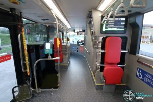 Yutong E12DD - Interior (Lower Deck with Wheelchair Backrests)