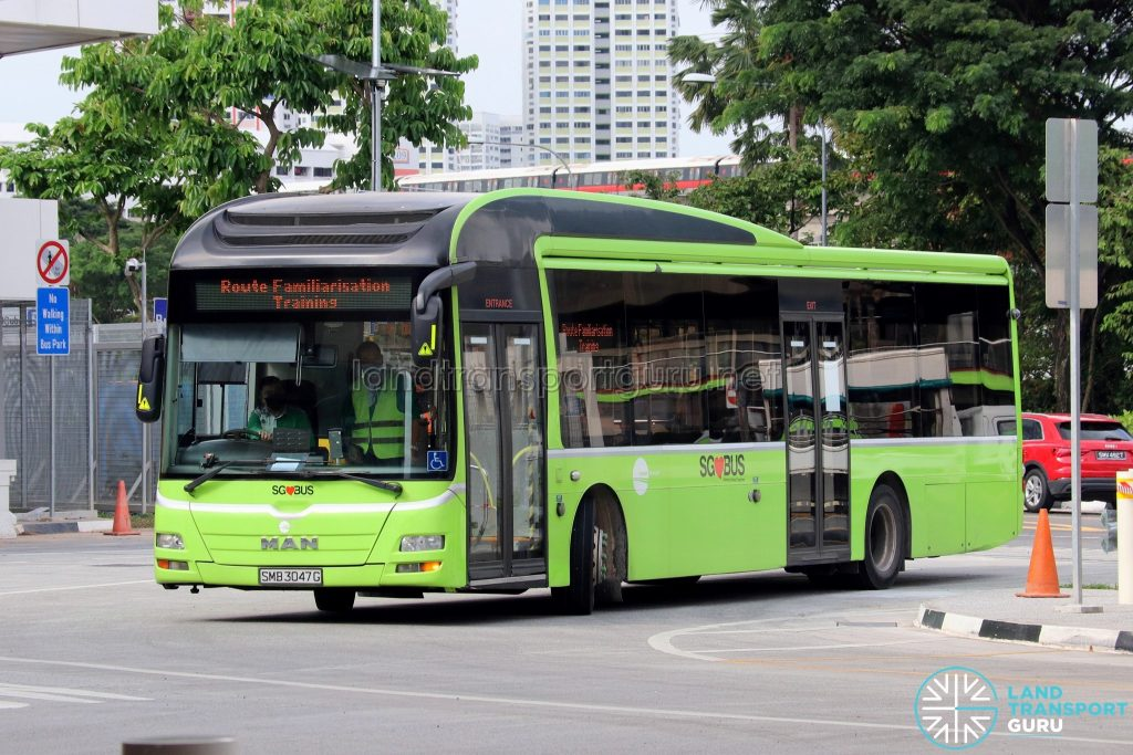 Route Familiarisation Training - Tower Transit MAN A22 (SMB3047G)
