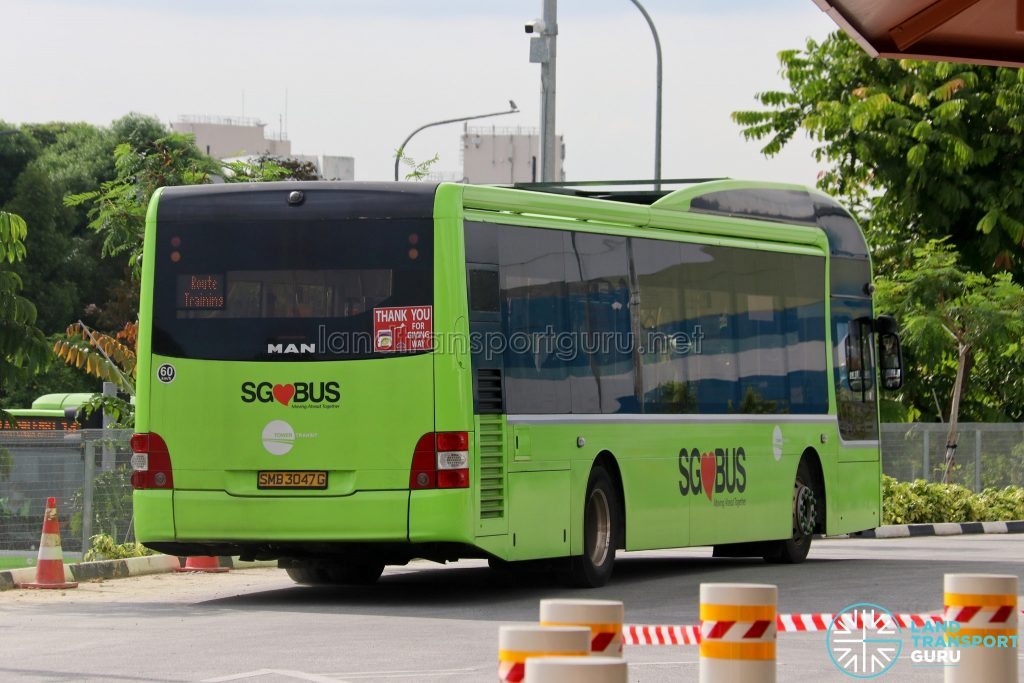 Route Familiarisation Training - Tower Transit MAN A22 (Rear) (SMB3047G)