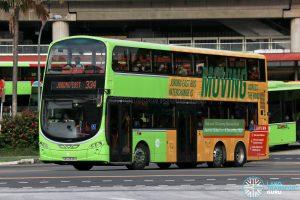 Bus 334 - Tower Transit Volvo B9TL Wright (SBS3338H)