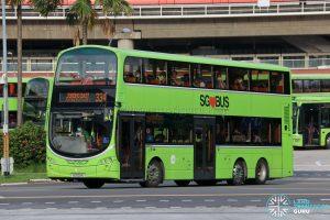 Bus 334 - Tower Transit Volvo B9TL Wright (SG5021U)