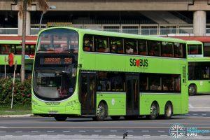 Bus 334 - Tower Transit Volvo B9TL Wright (SG5023P)
