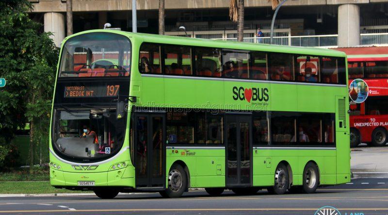 Bus 197 - SBS Transit Volvo B9TL Wright (SG5457X)