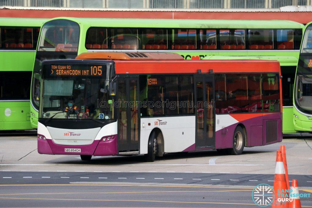Bus 105 - SBS Transit Scania K230UB Euro V (SBS8940K)