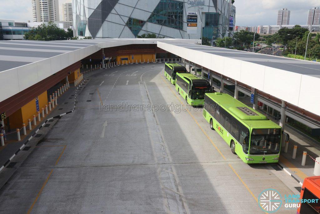 Relocated Jurong East Bus Interchange - Alighting & Boarding Berths