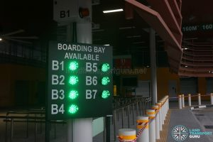 Relocated Jurong East Bus Interchange - Boarding Bay Availability Display