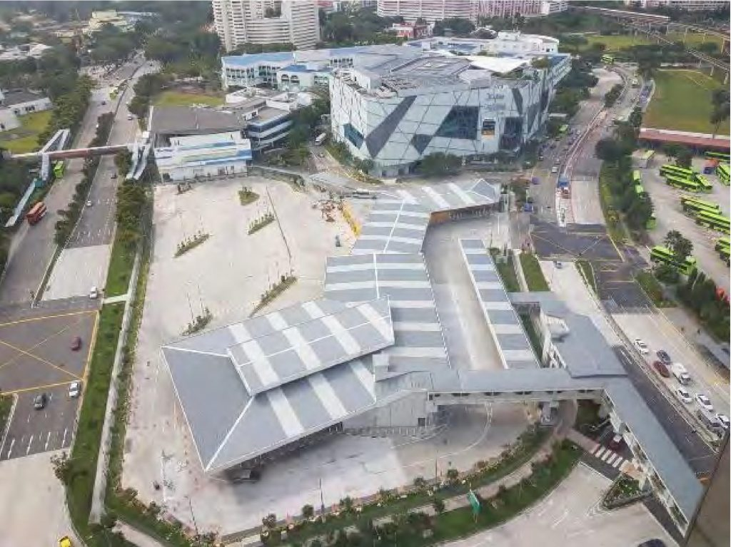 Relocated Jurong East Bus Interchange: Overhead view (Photo: Land Transport Authority)