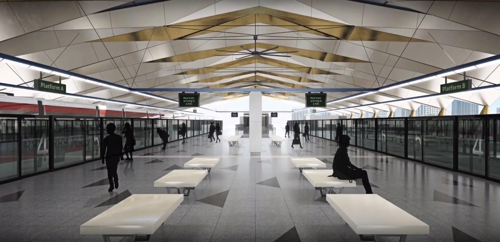 Bukit Chagar Station Platform