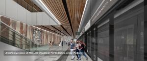 Artist's Impression of RTS Link Woodlands North Station Arrival Platform (Image: LTA)