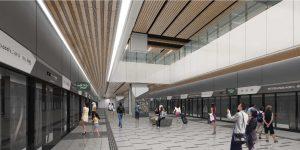 Artist's Impression of RTS Link Woodlands North Station Departure Platform (Image: LTA)