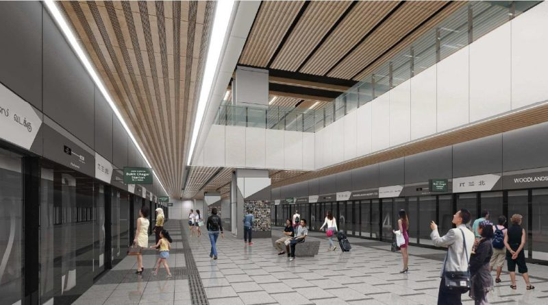 Artist's Impression of RTS Link Woodlands North Station Departure Platform (Image: LTA)