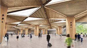 Artist's Impression of RTS Link Woodlands North Station Concourse (Image: LTA)