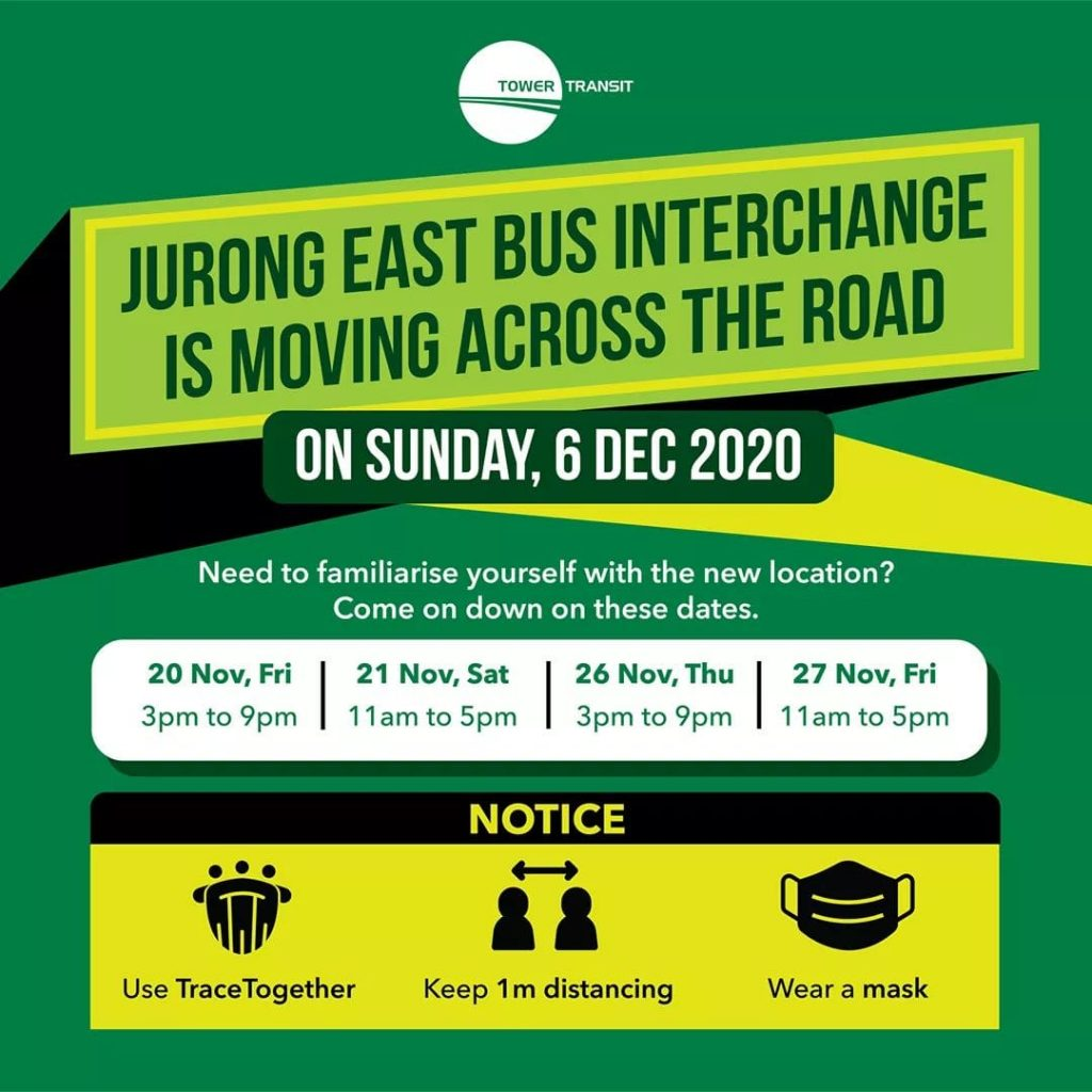 [Removed Poster] Tower Transit Relocated Jurong East Bus Interchange Open House Poster