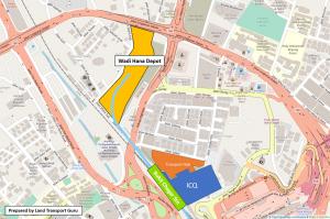 Planned location of Wadi Hana Depot