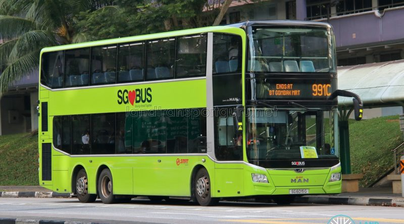 Bus 991C - SMRT Buses MAN A95 Euro 6 (SG6015G)