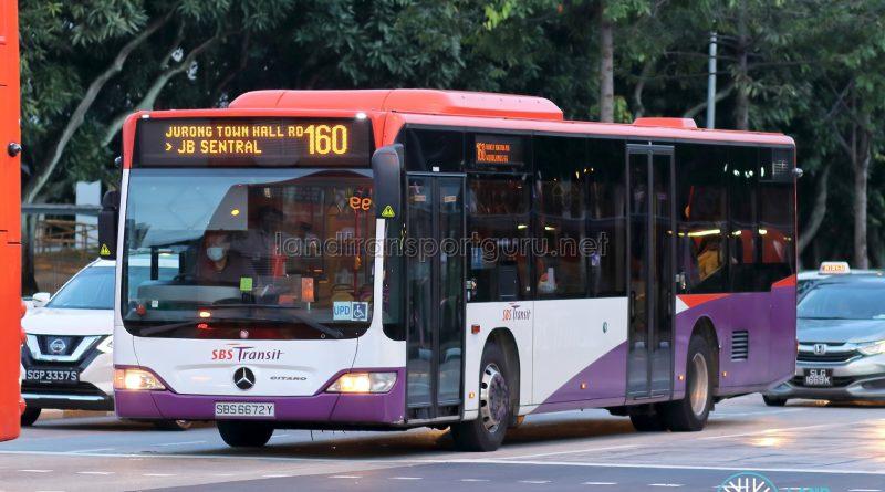 Bus 160 - SBS Transit Mercedes-Benz Citaro (SBS6672Y)