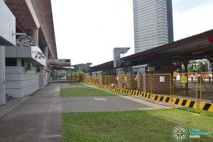 Defunct Jurong East Temporary Bus Interchange - Cordoned off entrances