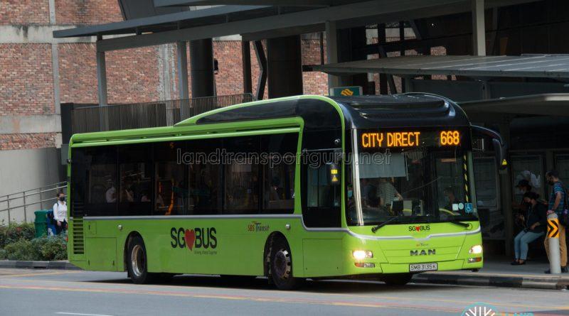 Bus 668 - SBS Transit MAN A22 (SMB3135K)