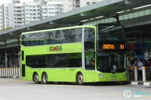 Bus 83 - Go-Ahead Singapore MAN A95 (Euro 6) (SG6091K)