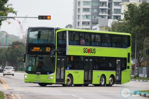 Bus 83 - Go-Ahead Singapore MAN A95 (Euro 6 3-Door) (SG6283Z)