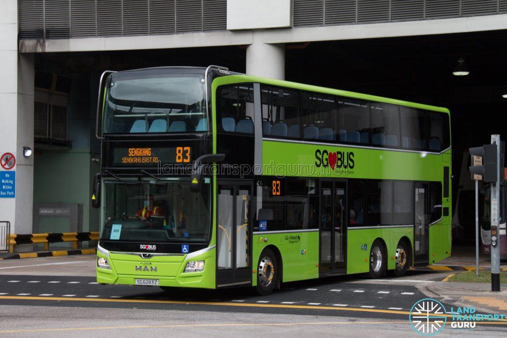 Bus 83 - Go-Ahead Singapore MAN A95 (Euro 6 3-Door) (SG6283Z)
