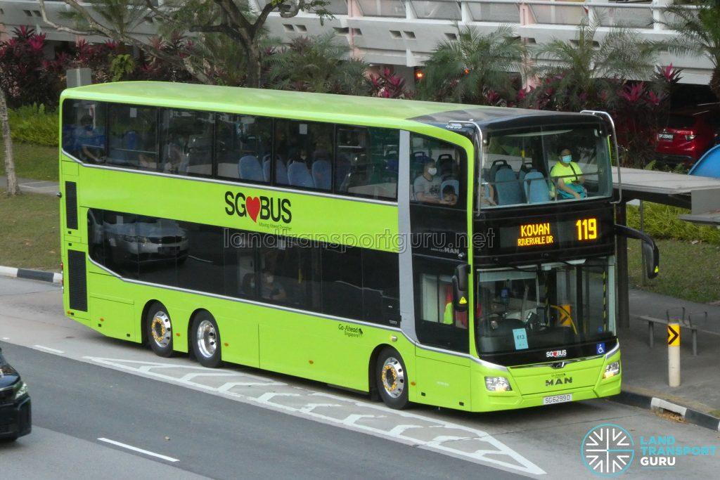Bus 119 - Go-Ahead Singapore MAN A95 (Euro 6 3-Door) (SG6299D)