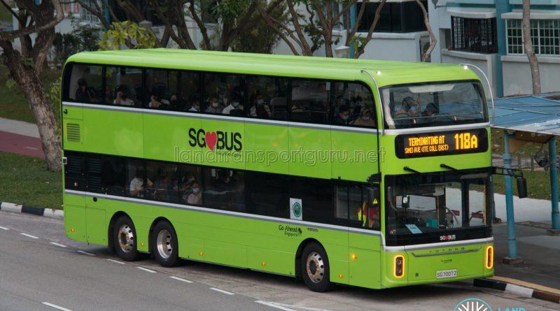Bus 118A - Go-Ahead Singapore Yutong E12DD (SG7007Z)