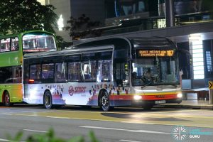 Bus 167 - SMRT Buses MAN A22 (SMB1488E)