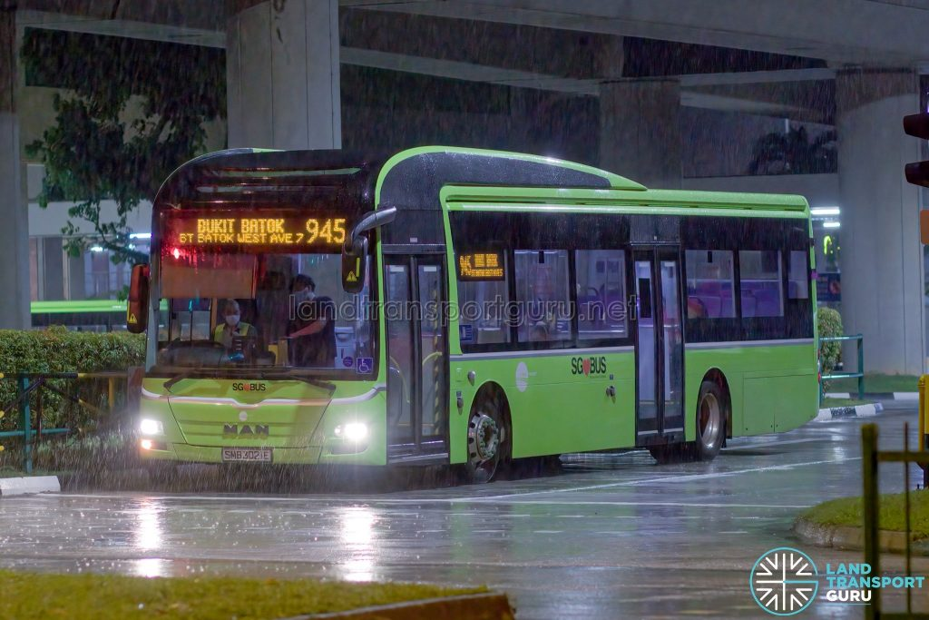 Bus 945 - Tower Transit MAN A22 (SMB3021E)