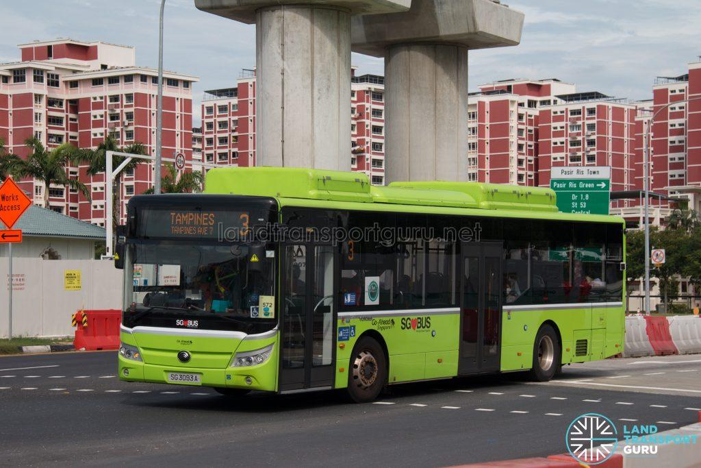 Bus 3 - Go-Ahead Yutong E12 (SG3093A)