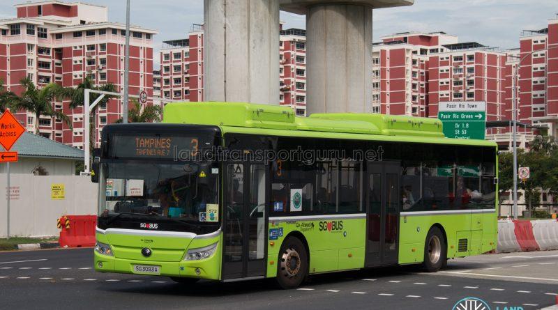 Bus 3 - Go-Ahead Singapore Yutong E12 (SG3093A)
