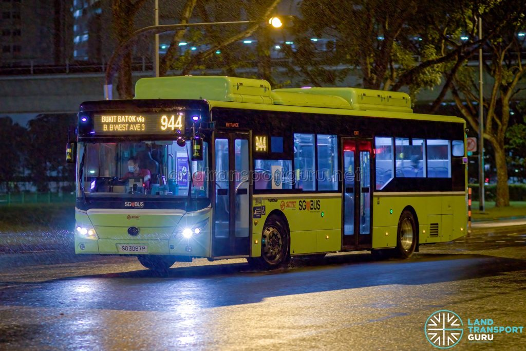 Bus 944 - SMRT Yutong E12 (SG3097P)