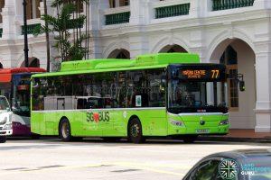 Bus 77 - Tower Transit Yutong E12 (SG3099J)