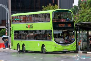 Bus 143 - Tower Transit Volvo B9TL Wright (SBS3358A)