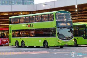 Bus 98M - Tower Transit Volvo B9TL Wright (SBS3423U)