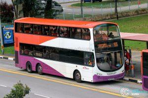 Bus 55 - SBS Transit Volvo B9TL Wright (SBS3608D)