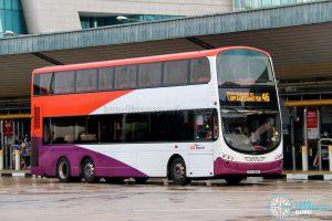 Bus 46 - SBS Transit Volvo B9TL Wright (SBS3818P)