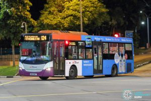Bus 124 - SBS Transit Scania K230UB Euro V (SBS5185T)