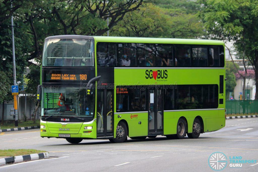 Bus 180 - SMRT Buses MAN A95 Euro 5 (SG5769X)