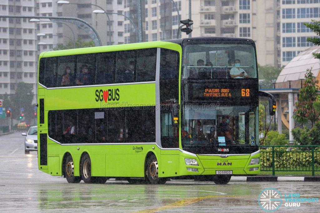 Bus 68 - Go-Ahead Singapore MAN A95 Euro 5 (SG5910D)