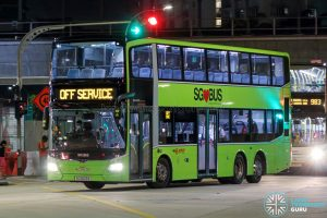 Off Service - SMRT Buses MAN A95 Euro 6 (SG6009A)
