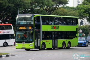 Bus 180 - SMRT Buses MAN A95 Euro 6 (SG6021M)