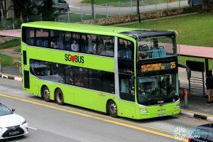 Bus 25 - SBS Transit MAN A95 Euro 6 (SG6174E)