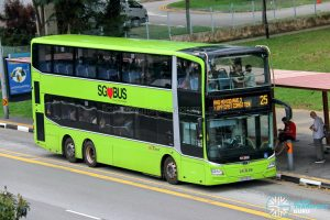 Bus 25 - SBS Transit MAN A95 Euro 6 (SG6183D)