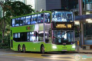 Bus 518 - Go-Ahead Singapore MAN A95 (Euro 6; 3-Door) (SG6297J)