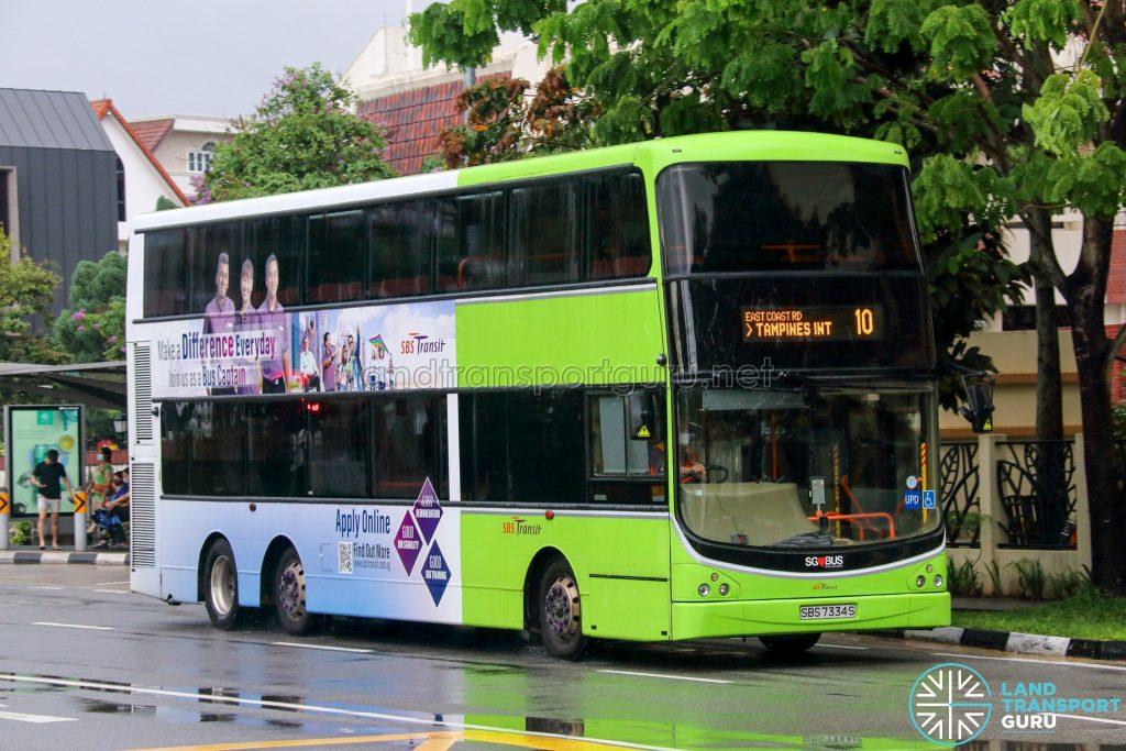 Bus 10 - SBS Transit Volvo B9TL CDGE (SBS7334S)