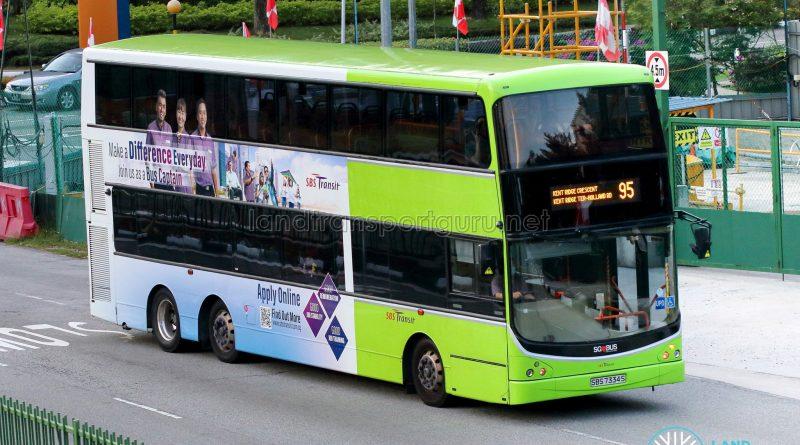 Bus 95 - SBS Transit Volvo B9TL CDGE (SBS7334S)