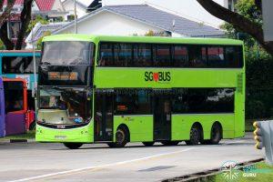 Bus 201 - SBS Transit Volvo B9TL CDGE (SBS7348C)