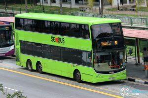 Bus 51 - SBS Transit Volvo B9TL CDGE (SBS7452J)