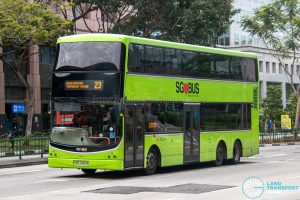 Bus 23 - SBS Transit Volvo B9TL CDGE (SBS7460K)